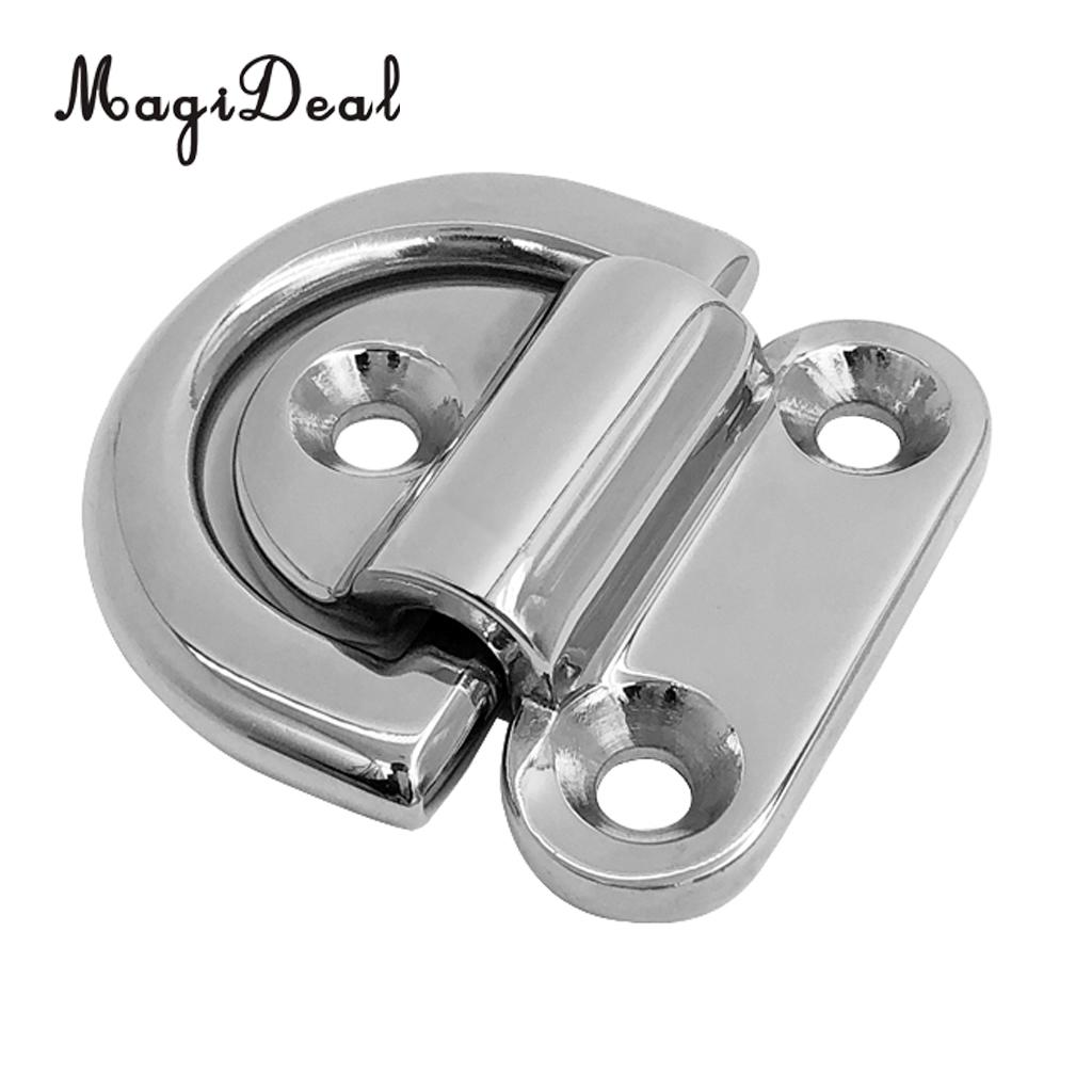 24mm Folding Pad Eye Ring Tie Down Anchor Marine Grade 316 Stainless Steel