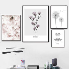 Flower Feather Canvas Print Landschap Dandelion Painting Posters And Prints Quotes Wall Art Picture For Home Decoration Unframed