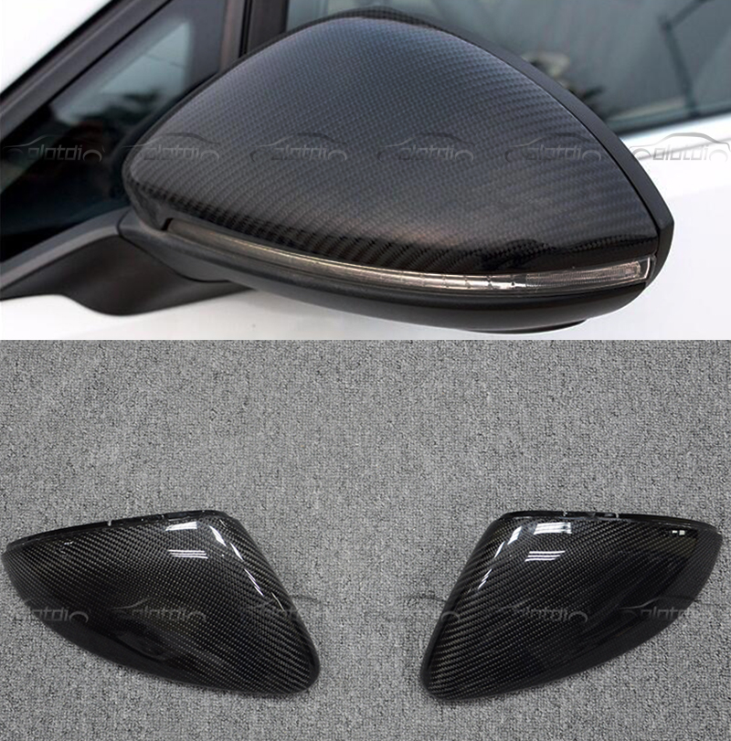 цена на Car Styling Carbon Fiber Rear view Mirror Replacement Replace Cap For VW Golf 7 MK7 2014-18 For VW Touran 2016-18