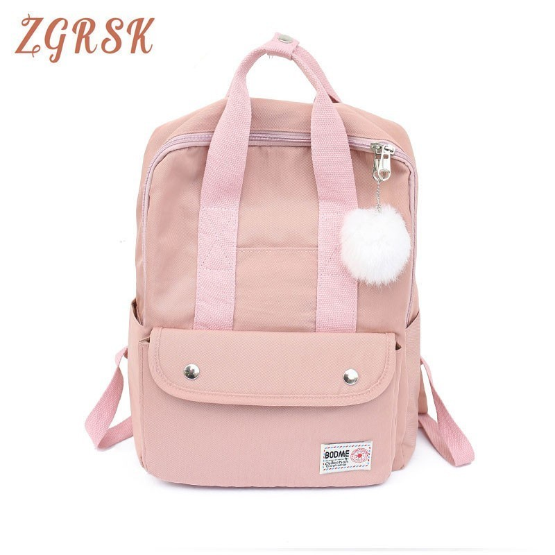 Campus Candy Color Backpack Japanese Lolita Girls Cute Mobile Rucksack Shoulder Bag Student Hand School Bags