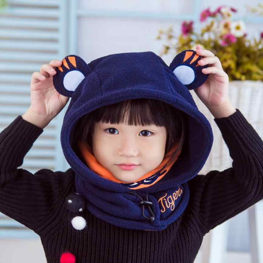 0f9b613e6cc Detail Feedback Questions about Children Tiger Neck Cover Cap Baby Boys  Girls Beanie Cotton Hat Children Print Sep 6 on Aliexpress.com