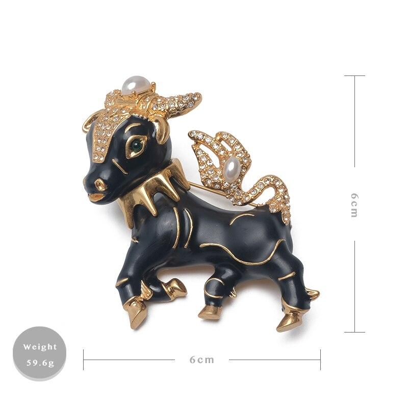 Image 5 - Amorita boutique vintage ciner black mini cow pinsBrooches