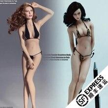 С скелетом из нержавеющей стали в бледном/среднем размере бюста для 1: 6 фигуры супер-гибкий женский Бесшовный корпус