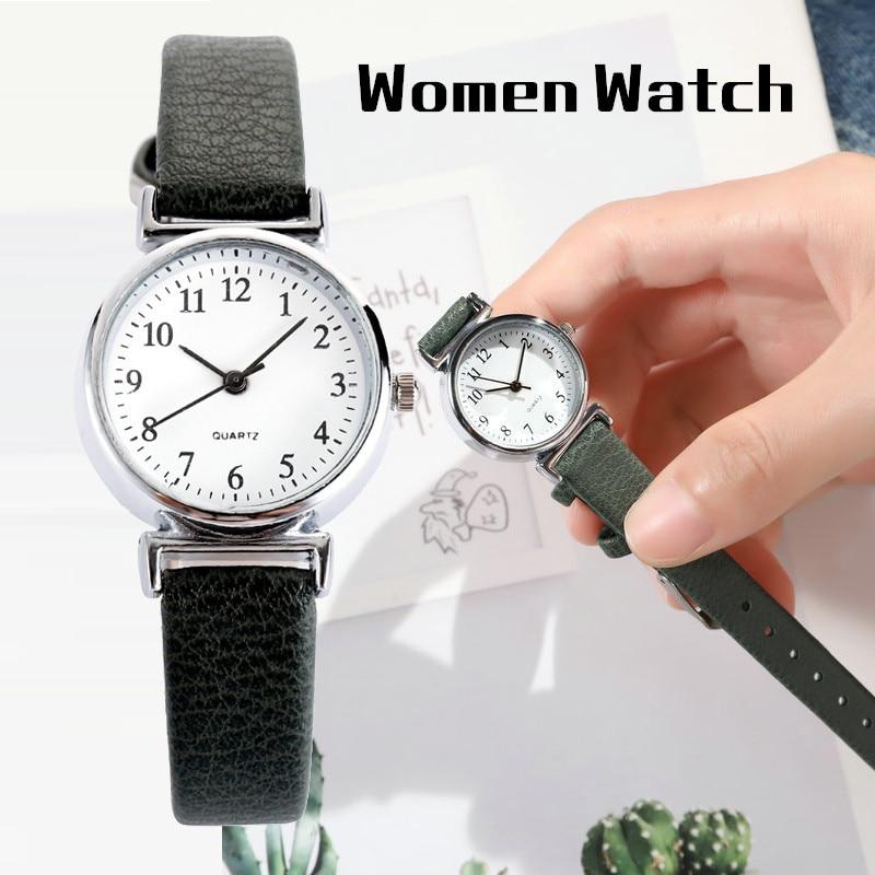 Top Brand Fashion Casual Retro Ladies Watches Waterproof Black Leather Bracelet Luxury Female Quartz Women Watch Reloj Mujer