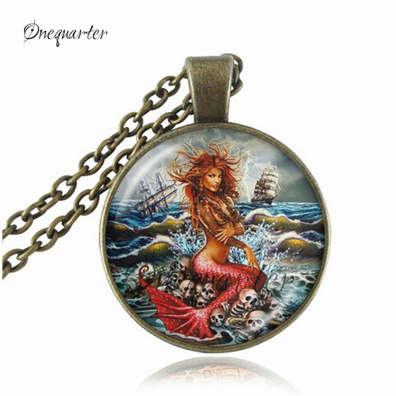Red Mermaid Necklace