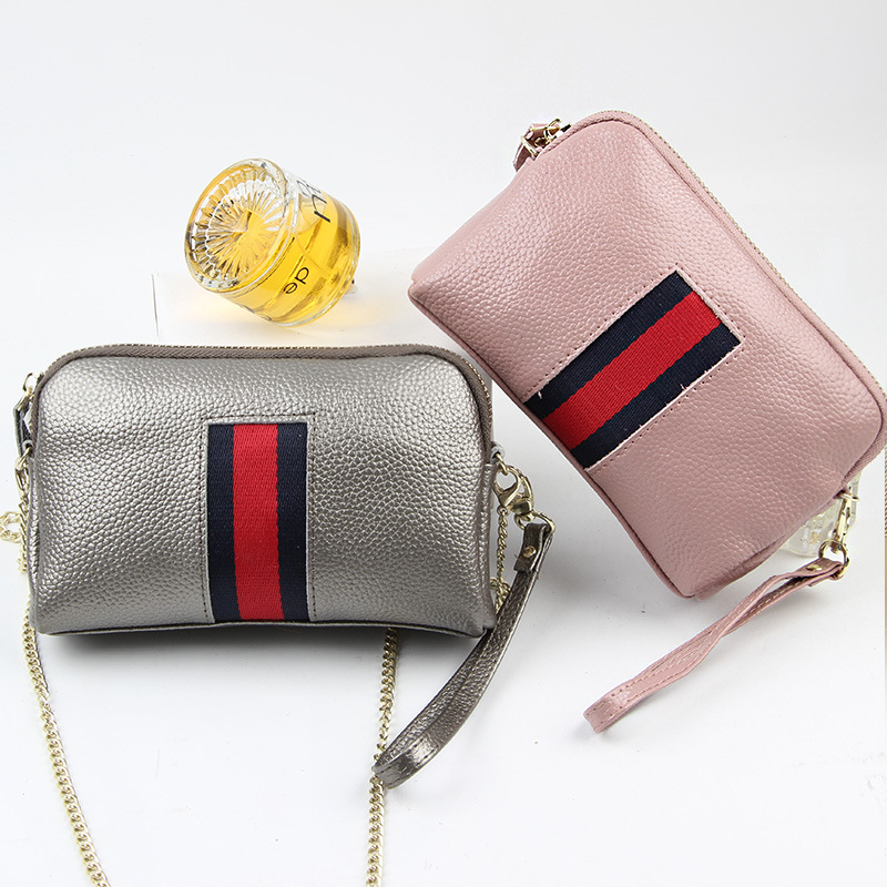 2017 New Brand Design Cow Leather womenu0027s clutch bag Fashion Casual Mimi  Small Messenger bag Large