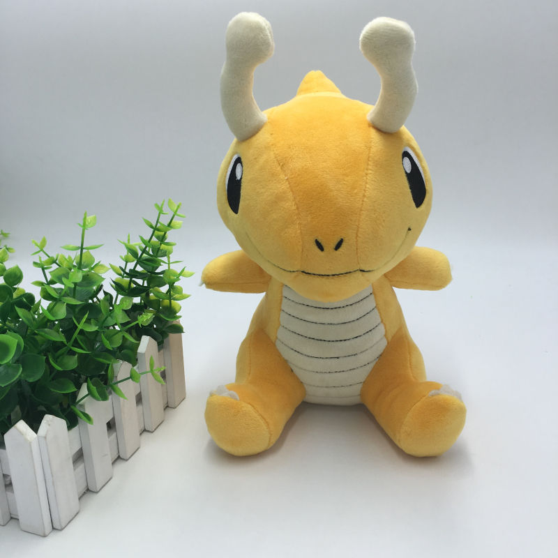 Hot Anime Cute Dragonite Plush Toys Mini Cartoon Genius Soft Stuffed Animals Doll for Kids Children Christmas Birthday Gift Toy