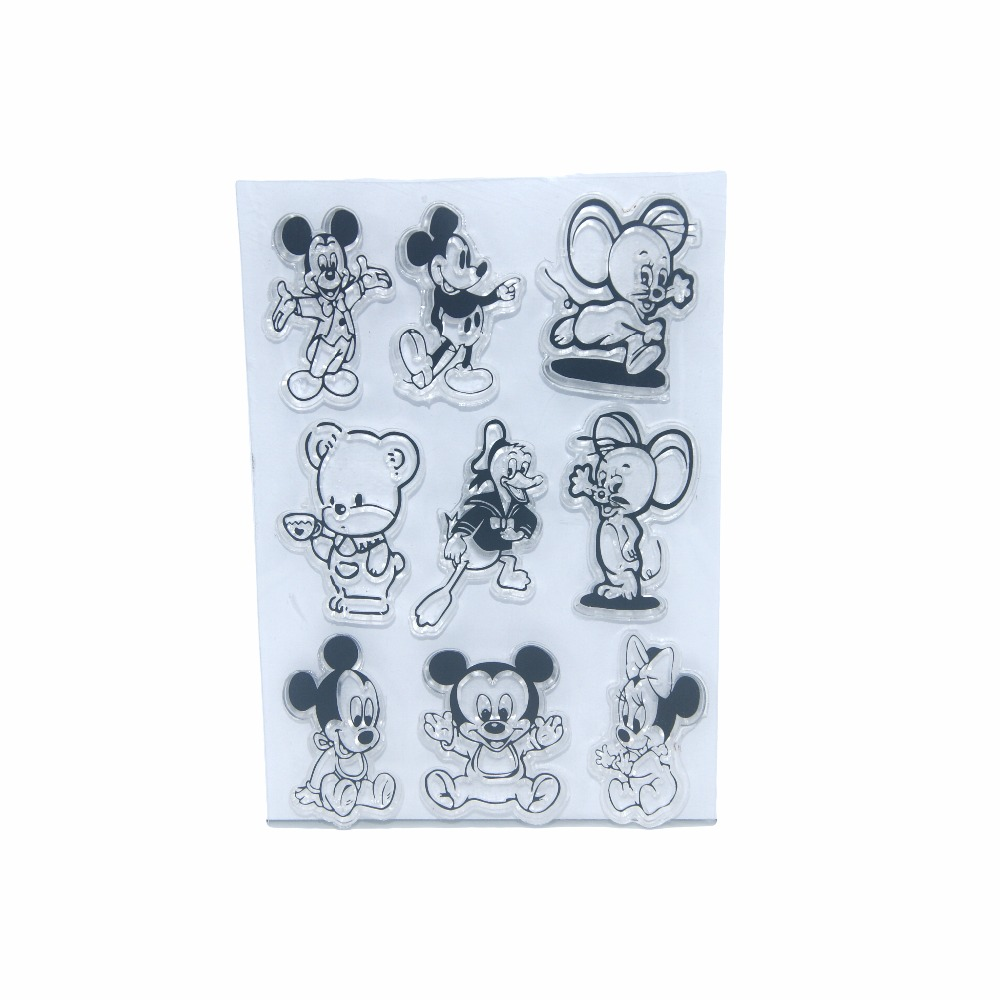 Cartoon Animals Mickey Mouse Transparent Clear Silicone Stamp Seal For DIY Scrapbooking Photo Album Decorative Sheet