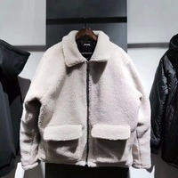 2018 Men Hiphop Loose Fit Quilted Sherpa Jacket Khaki/Brown Raglan Coat Streetwear