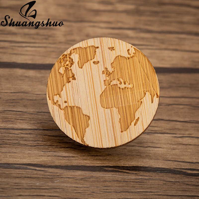 Shuangshuo деревянный географические карты броши булавки для женщин World Travel земля брошь воротник булавки лацкан Шпильки Модные Украшения