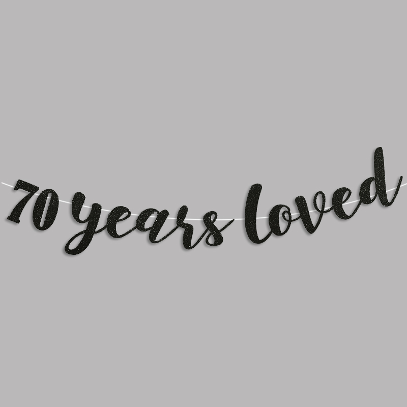 70 años adoró Glitter Banner 70.a Fiesta de cumpleaños - Para fiestas y celebraciones - foto 6