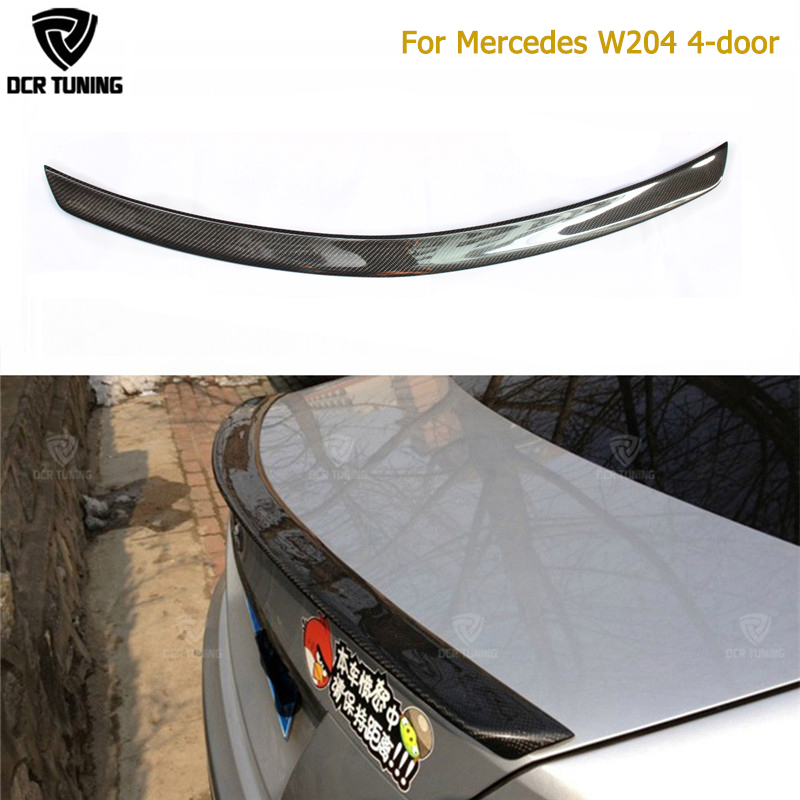 AMG Style For Mercedes W204 Amg Carbon Fiber Spoiler 2008 2010 2011 2012 2013 2014 C Class W204 Carbon Spoiler 4 - Door Sedan цена
