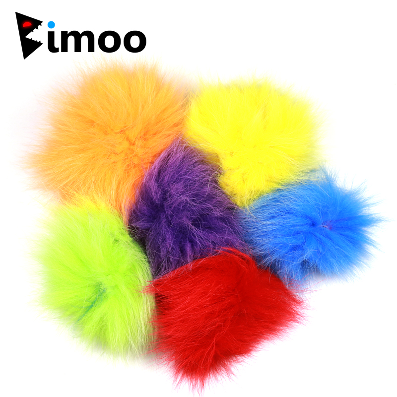 6 Color Mix Fox Fur Hair for Fly Tying Streamer Bait Fish Natural Fine Fiber Fly Tying Material
