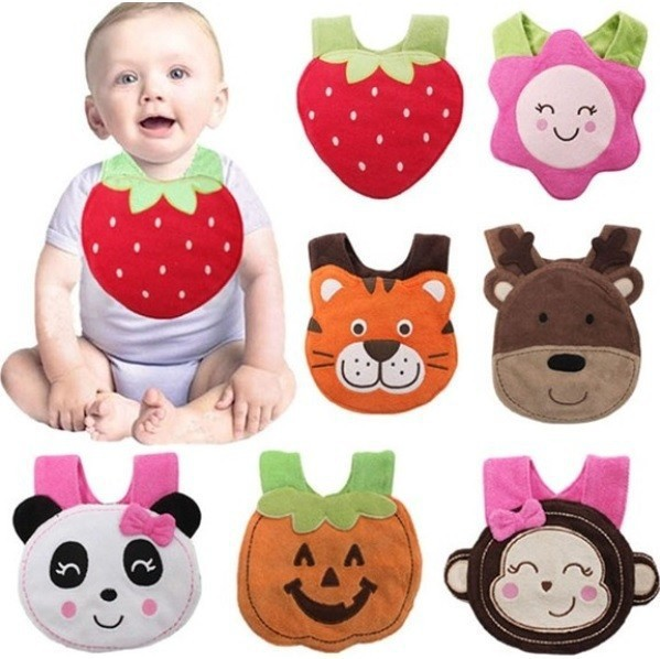Baby Bibs waterproof Burp Cloths 3 layers embroidery high quality saliva towels 1pc/lot