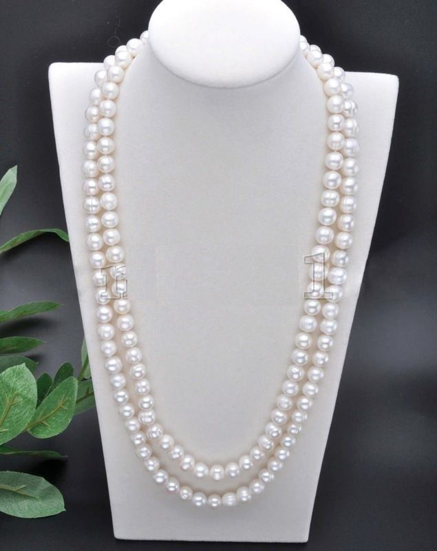 50 inch AAA south seea white cream pearl necklace 925silver Yellow Gold Clasp зонт dicom ditech ub40wg 40 inch 101cm white gold