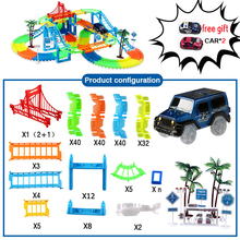 2019 New popular March 28th Carnival Shopping Festival rc track car baby toys Glow in the Dark brain game kids toy for boy girl