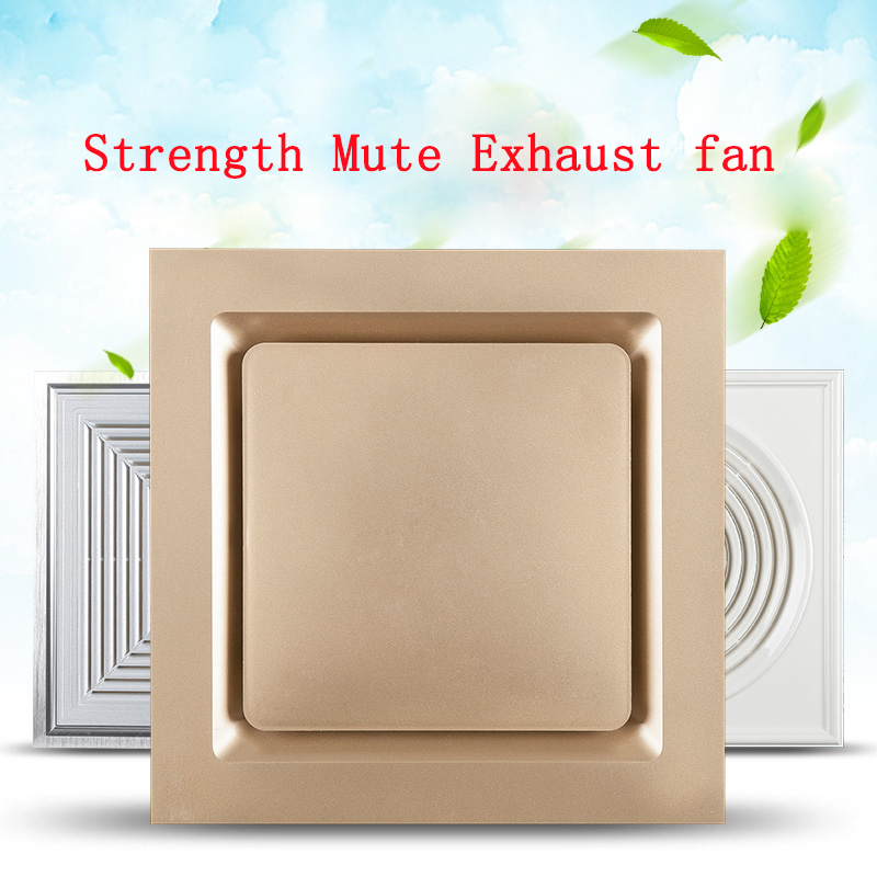Mute Ventilator integrated ceiling Suction top type 300*300mm Kitchen and toilet Toilet Exhaust fan Aluminous gusset plate Blow integrated ceiling ventilator bathroom wc kitchen silent exhaust fan