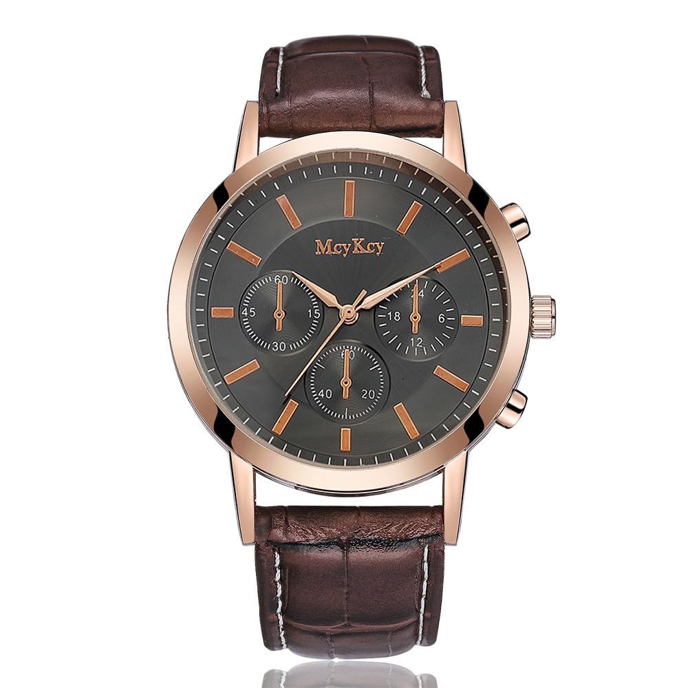 Relogio Masculino 2018 Top Brand Watches Men Luxury Famous Wristwatch Male Quartz Watch Leather Casual Clock Zegarki Meskie