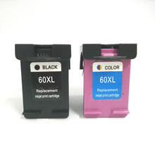 2Pcs Cartridge For HP 60 ink for Deskjet F2480 F2420 F4480 F4580 D2660 D2530 D2560 F4280 PhotoSmart C4680