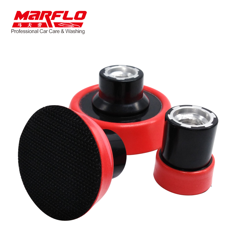 MARFLO Plate Backing Pad Sponge Polishing Car Wash and Care Tools M14 1.2 2 3 3size in one Package 3pcs cleaning sponge polishing pad plate backing pad car wash and care tools 1 2 2 3 m14 mar drop ship