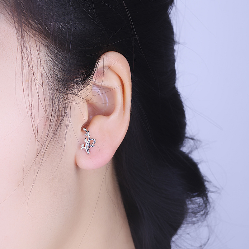 han edition leaves earrings female fashion a substituting wholesale silver ornament deserve to act the role of earrings