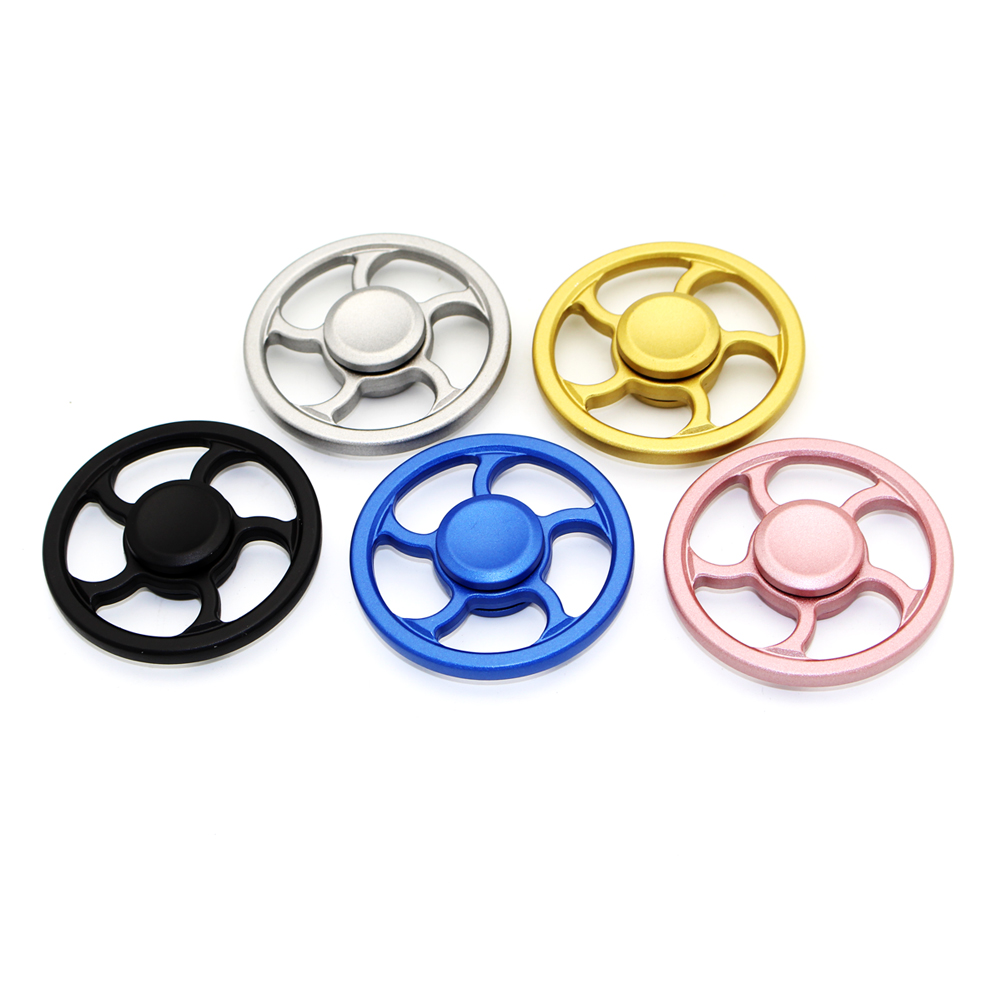 Wheel Fidget Spinner Handspinner Alloy Spinner Toy Anxiety Stress Alloy Hand Spinner Metal Fidget Puzzle Funny