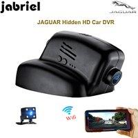 Jabriel Скрытая вождения записи HD 1080 P автомобиля камера Автомобильный видеорегистратор Wi Fi видеорегистратор двойной объектив для 2011 2015 JAGUAR XJ