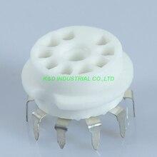 5pcs 9Pin Ceramic PCB top Mount Tube Preamp Socket B9A for 12AX7 ECC82 6922 6DJ8