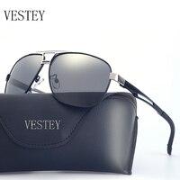 VESTEY Men HD Polarized Sunglasses Classic Men Women Retro Rivet Shades Brand Designer Sun Glasses UV400
