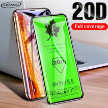 20D Curved Edge Full Cover Protective Glass on the For iPhone 7 8 6 Plus X Tempered Screen Protector XR XS Max Film