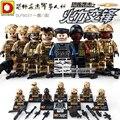 DLP 9037 Ataque Terrorista Asalto Militar de la Fuerza Especial de Bloques de Construcción de Juguete Ejército Solider Ladrillos Juguetes Para Niños brinquedos Regalo