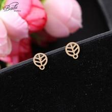 Badu DIY Earring Small Studs Golden Zinc Alloy Lovely Jewelry for Girls Wholesale цена