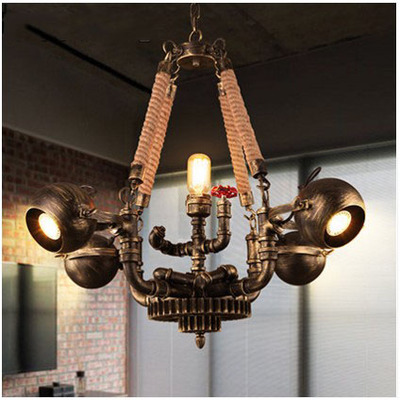 American style Pendant Lights restaurant coffee shop loft industrial wind bar living room shop wrought iron spot lamp LU825449 chinese style classical wooden sheepskin pendant light living room lights bedroom lamp restaurant lamp restaurant lights