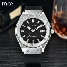 MCE 2016 Новая Мода марка Мужчины стильный скелет Часы резинкой классический автоматические механические наручные спорт часы Montre homme