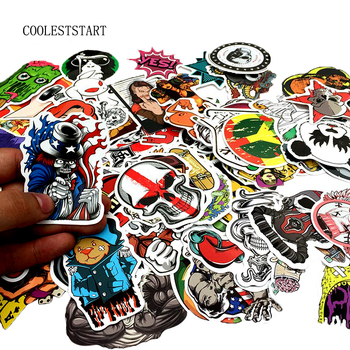 50-100 PCS Graffiti Retro Animal Creative Cool Waterproof Sticker for Suitcase Laptop Etc.