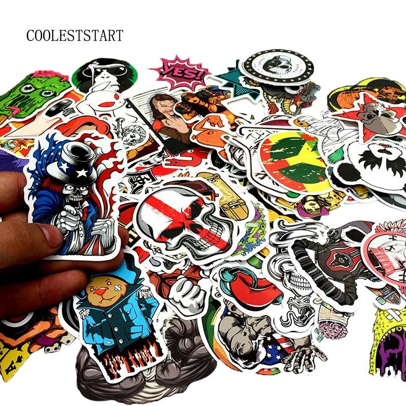 50-100PCS Graffiti Stickers Retro Animal Creative Cool Waterproof Sticker For Suitcase Laptop Bike Motorcycle Car Stickers