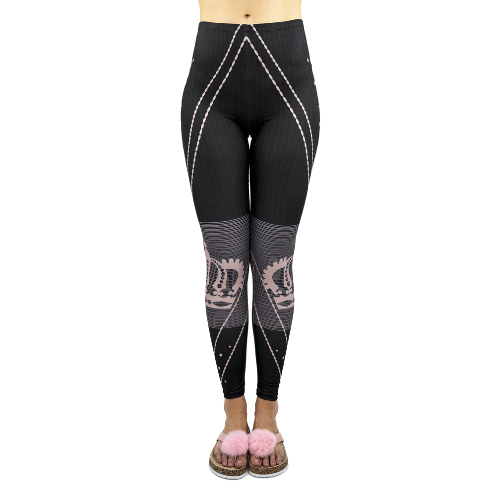 New Arrivals Hot Black Strips Forever Princess Printing Workout Legging Stretch Leggings Sexy Pants