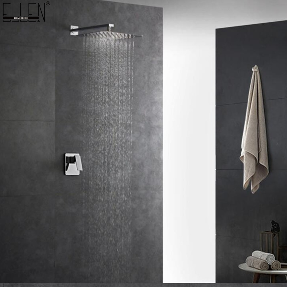 Wall Shower Set Square Shower Head In Wall Shower Faucet Rain Shower Set Chrome 8