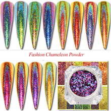 0.2g Chameleon Fakes Nail Sequins Peacock Starry Chrome Powder Manicure Decorations Nail Glitter Irregular Paillette TRQC01 12