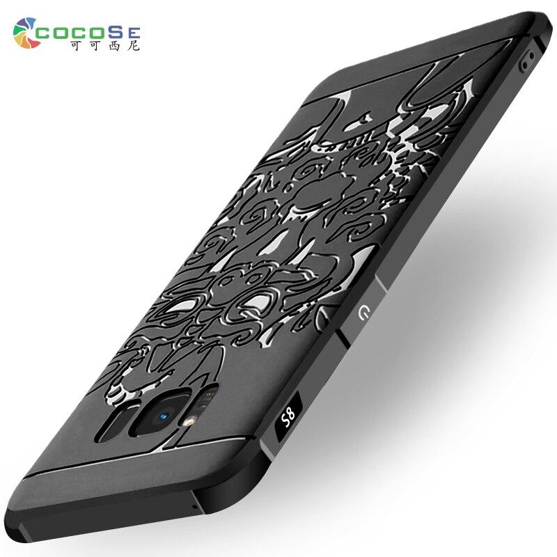 Galleria fotografica Silicone Case For Samsung Galaxy S8 S7 S6 Edge plus C9 pro 3D Carved Relief Dragon Soft tpu Phone Cover Luxury Anti-knock Coque