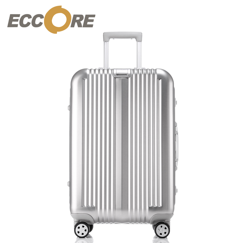17 20 24 28 Inch Metalic Aluminium Magnesium Alloy Luggage Luxury Spinner Travel Bags Four Direction Wheels Draw-BarBox Suitcase