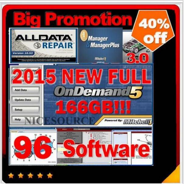 Цена за 96 in1 с 1 ТБ usb HDD fit win7 win8 Alldata 10.53 + 166 Митчелл 2015 + UltraMate + менеджер + tecdocs + elsaa5.2 + vivid workshop