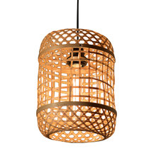 Chinese style chandelier bamboo weave creative pastoral restaurant hotel bedroom balcony teahouse lantern tatami chandelier(China)