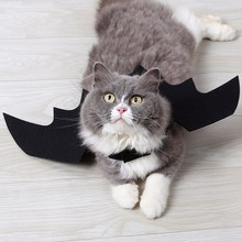 Funny Halloween Pet Bat Wings Cat Costume For Cats Cool Puppy Kitten Dogs Bats Pets Holiday Party Decoration