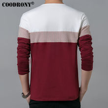 COODRONY T-Shirt Men 2017 Spring Summer New Long Sleeve O-Neck T Shirt Men Brand Clothing Fashion Patchwork Cotton Tee Tops 7622