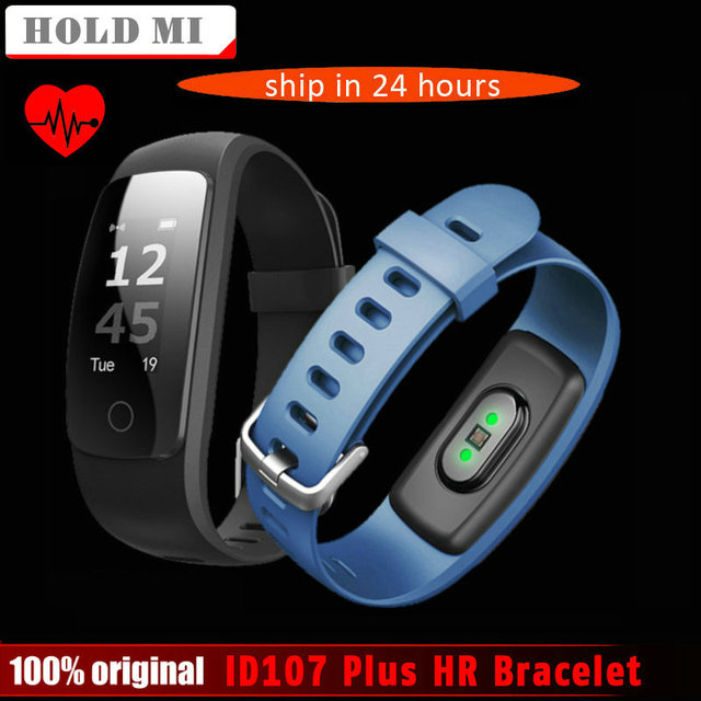 Hold Mi ID107 Plus HR Smart Band Fitness Bluetooth Bracelet Activity Sports Tracker Wristband with Heart Rate Tracker