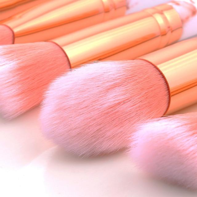 FLD 15Pcs professional makeup brush Set tools Powder Foundation Eyeshadow Lip Eyeliner Blush Makeup Kit Marble Brushes Set 5