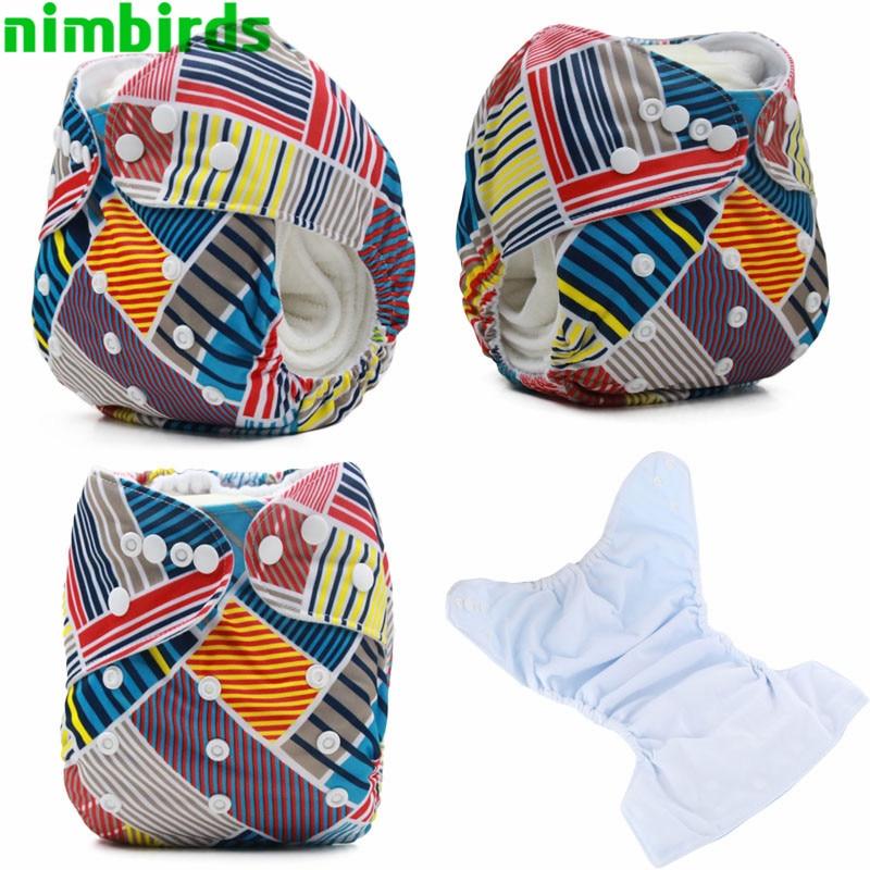 Tryckt Cloth Diaper Med Suede Cloth Inner One Size Baby Återanvänd - Blöjor och potträning