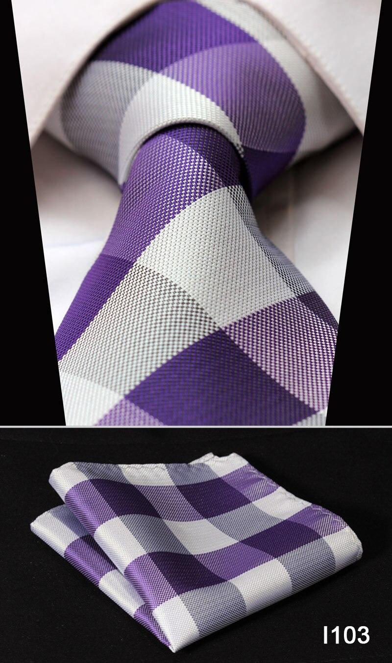 "Dot Check Striped Check New 3.4"" 100%Silk Wedding Jacquard Woven Men Tie Necktie Pocket Square Handkerchief Set Suit #I1"