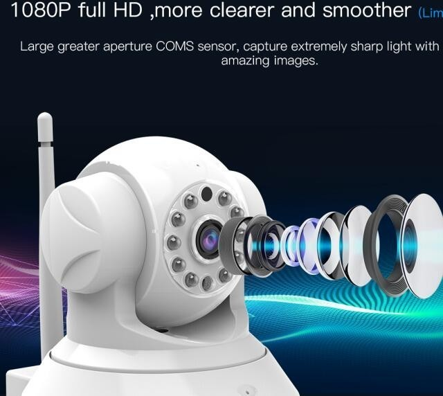 Hd Audio Save Wireless Audio From Infrared Alarm Camera Add Door sensor Pir Security Alarm System Wifi C37 ar in Surveillance Cameras from Security Protection